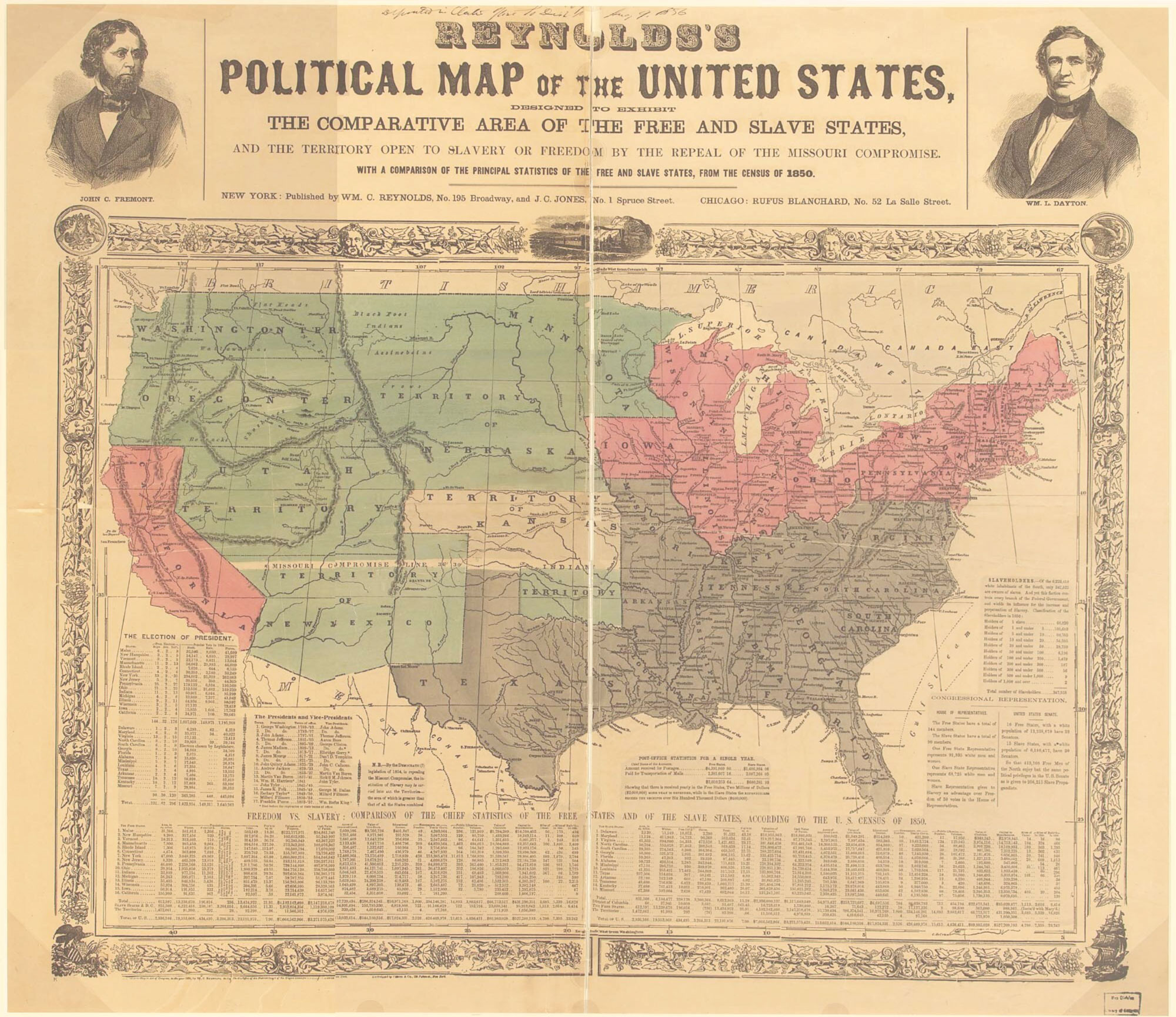 How did the North and South become more divided, helping to cause the Civil War?