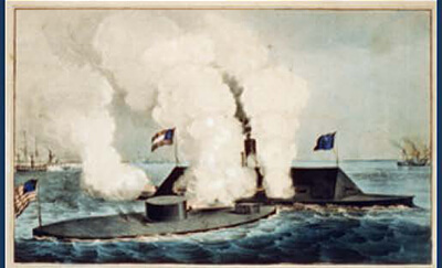 painting of the monitor and css virginia
