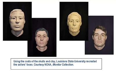 busts and cgi images of sailors