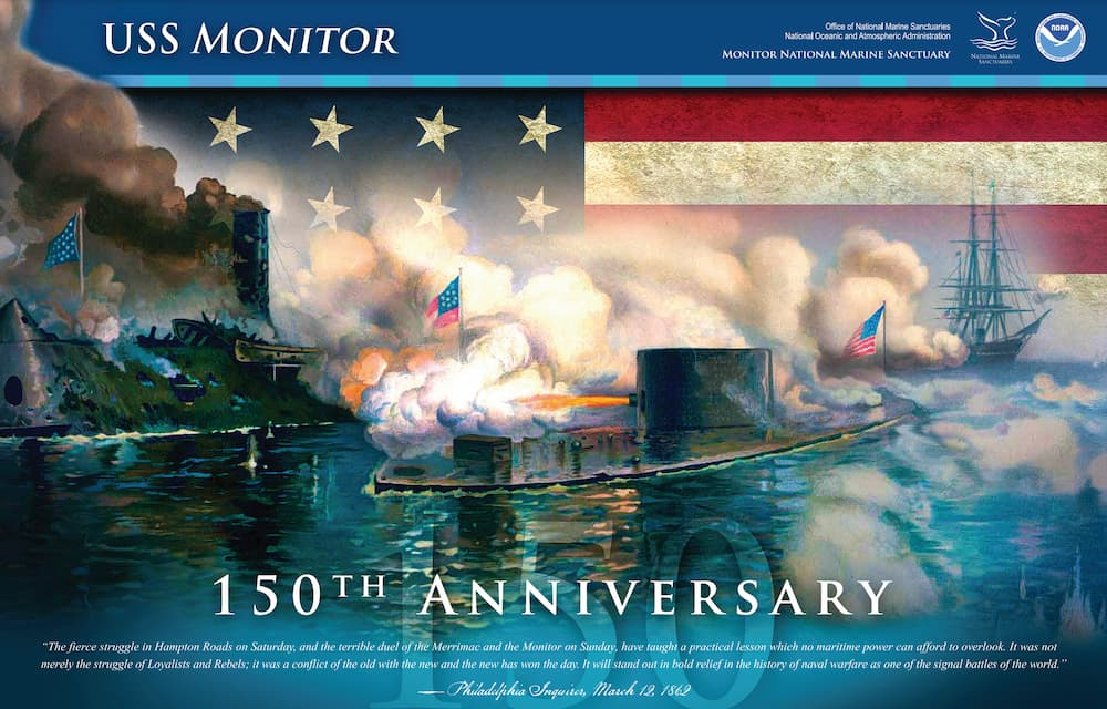 The USS Monitor 150th Anniversary poster