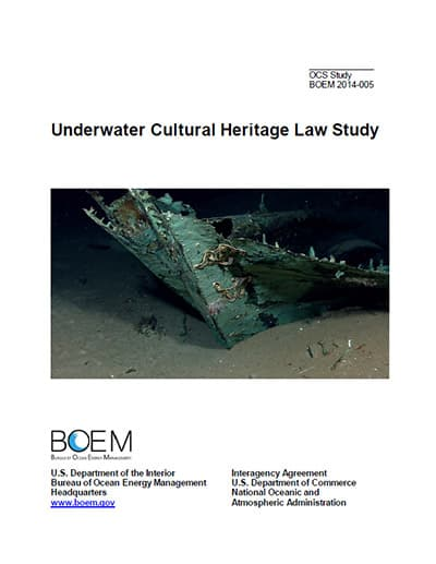 cover of Underwater Cultural Heritage Law Study