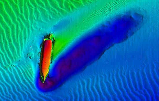 sonar image of uss virginia