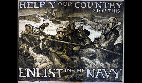 Posters used to recruit people to the Navy during WWI