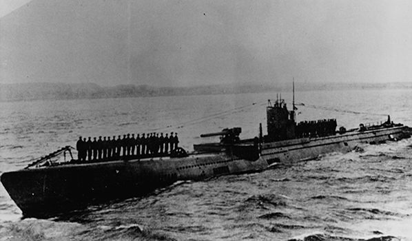 U-117, date and location unknown. Courtesy of Naval History and Heritage Command.